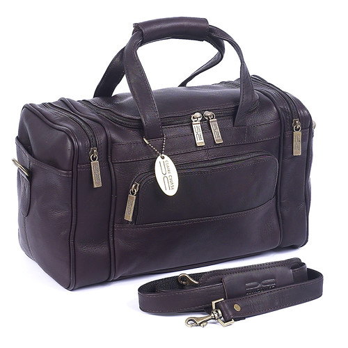 Claire Chase Petite Sport 14'' Leather Travel Duffel