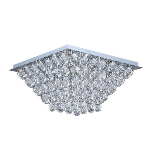 ET2 Lighting E24000-20PC 16 Light Brilliant Flush Mount Ceiling Light, Polished Chrome