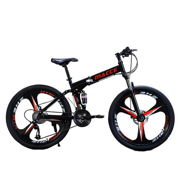 "Details about  /26/"" Folding Mountain Bike Shimano 21 Speed Bicycle Full Suspension MTB Bikes"