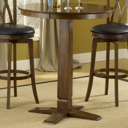 Hillsdale Dynamic Designs Pub Table in Brown - Dynamic Designs Brown Cherry