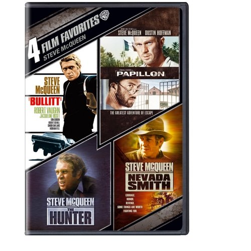 4 Film Favorites: Steve McQueen - The Hunter / Nevada Smith / Bullit / Papillon (Widescreen)