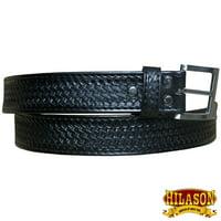 Leather Gun Holster Belt Handmade Buffalo Hide Stitched Hilason