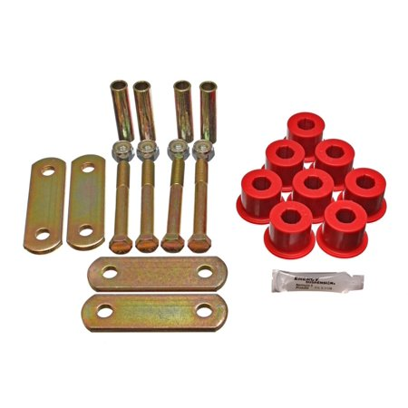 Energy Suspension Gm Heavy Duty Shackle Set - Red ()