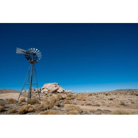 Desert Farm Windmill Print Wall Art By gabe9000c ()