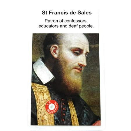 Relic Card 3rd Class of Saint Francis de Sales Patron of Baker, Oregon; Cincinnati, Ohio; Catholic Press; Columbus, Ohio; confessors; Deaf People; South Africa Francisco de Sales ()