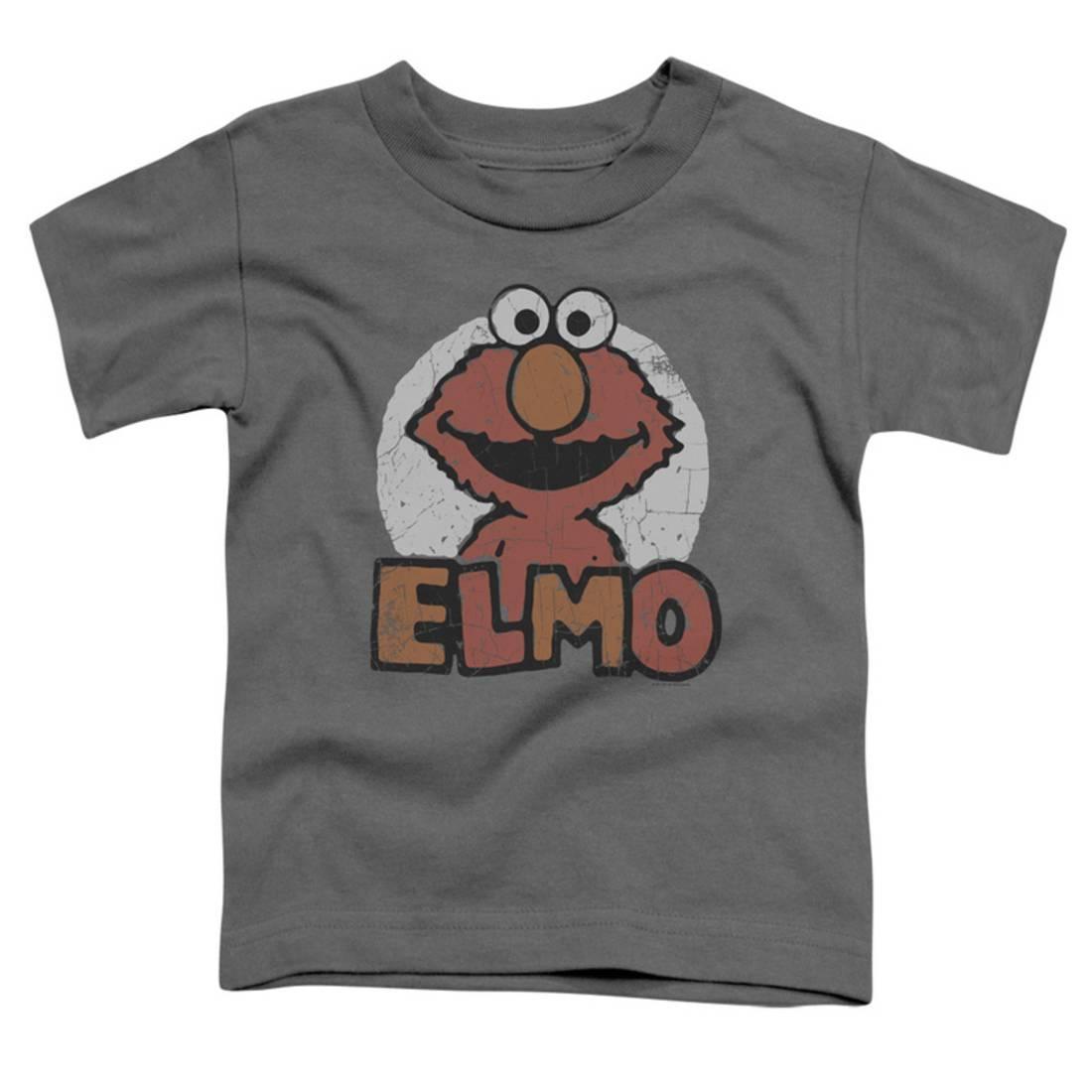 Toddler: Sesame Street- Elmo Patch Apparel Baby T-Shirt - Grey