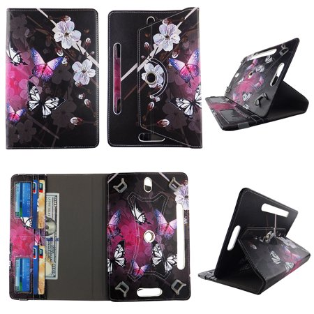 White Flower Butterfly tablet case 8 inch  for Samsung Galaxy Tab A 8