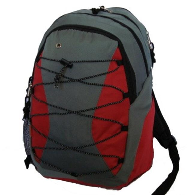 K-Cliffs Backpack With 3 Compartment & 1 CD Pouch - 18.5 x 12 x 9 in. Grey & Black - image 1 of 1
