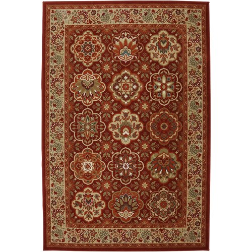 Mohawk Home One-of-a-Kind Symphony Copperhill Power Loom Synthetic Burnt Orange Area Rug