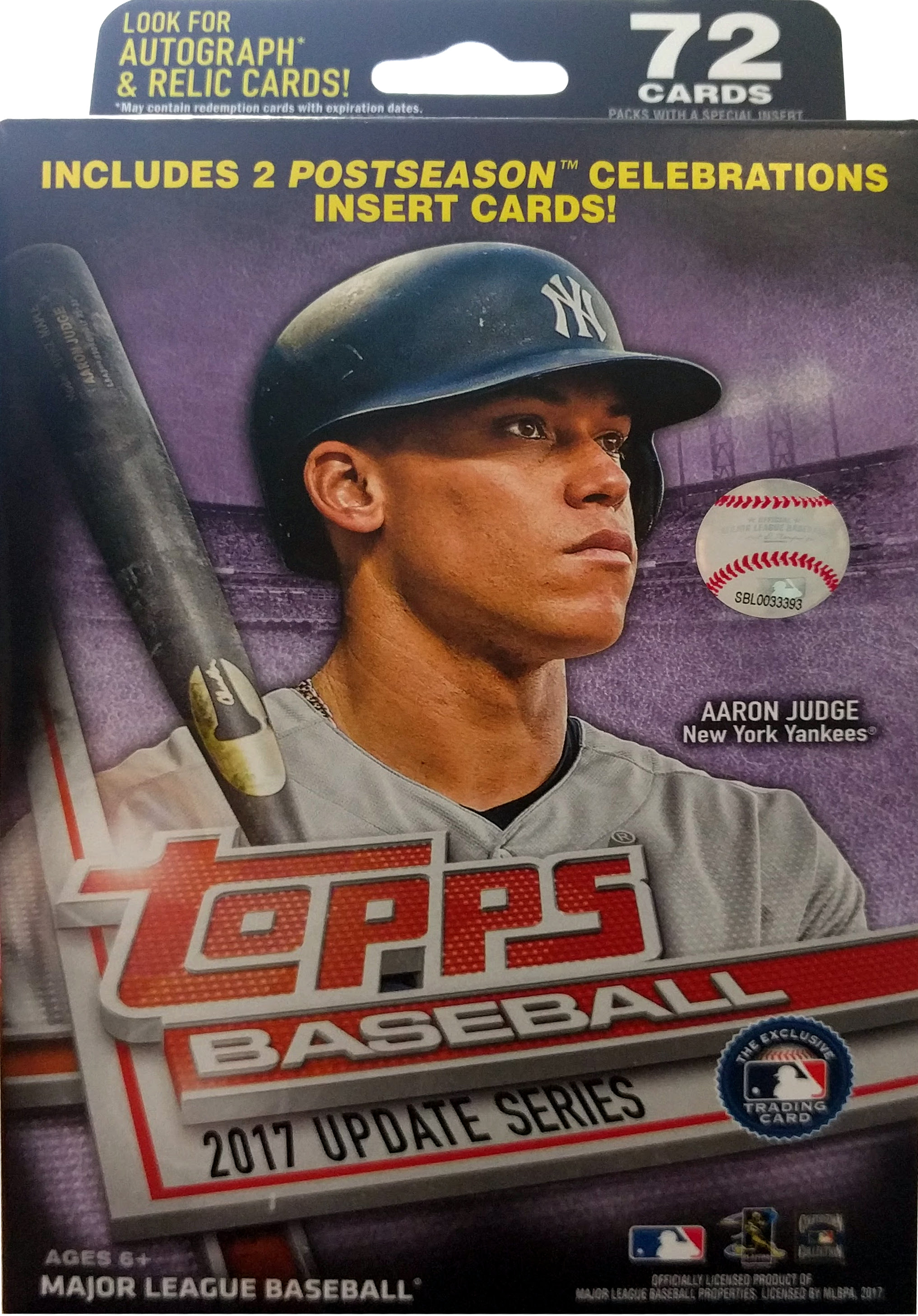 2017 Topps MLB Baseball Updates Hanger Box Updates by Topps
