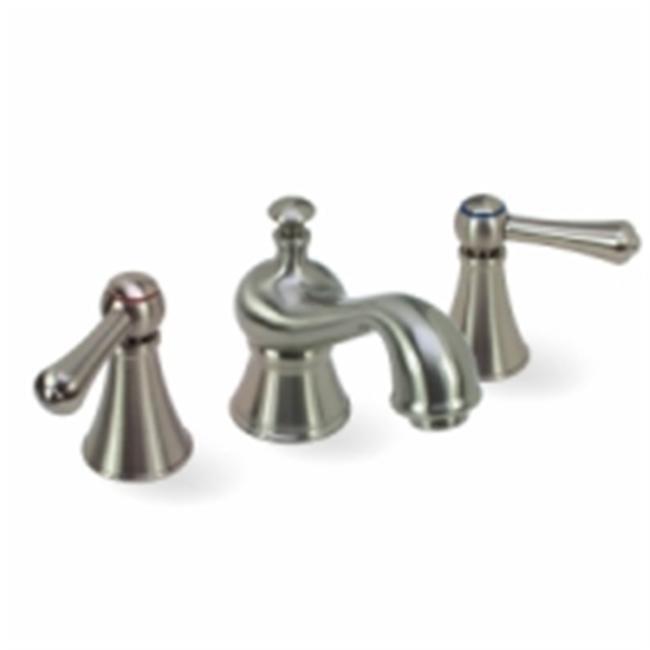 Brushed Nickel Home Improvement Kraus Cirrus 4 Inch Centerset 2 Handle Bathroom Sink Faucet Set