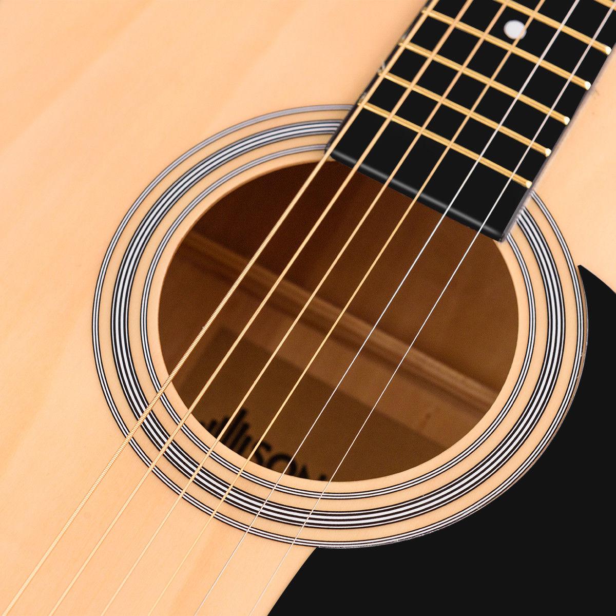 "Sonart 41"" Acoustic Folk Guitar 6 String w/ Case Strap Pick Strings Beginners - image 4 of 10"