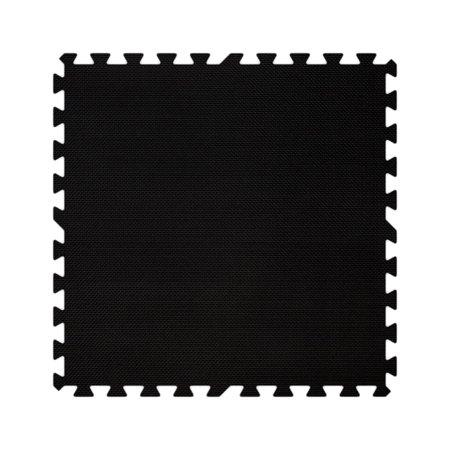 Alessco EVA Foam Rubber Interlocking Premium Soft Floors, 10' x 16' Set - Black (Alessco Premium Soft Floors Set)