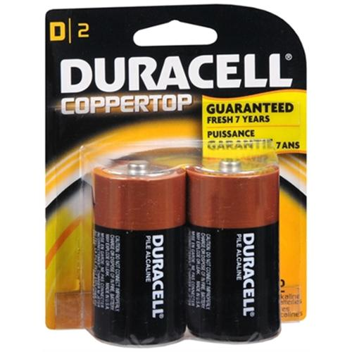 Duracell Coppertop D Alkaline Batteries 2 Each (Pack of 4)
