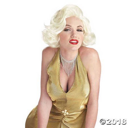 Classic Blonde Marilyn Monroe Wig - Marilyn Monroe Wig Halloween Express
