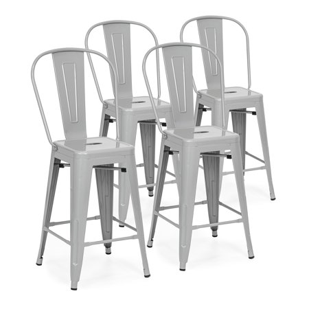 Metal Black Counter Stools - Best Choice Products 24