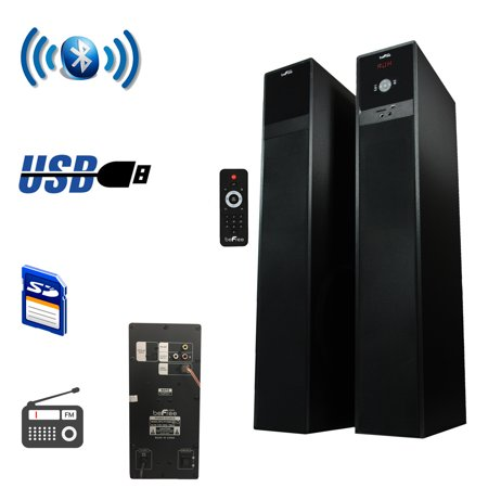 beFree Sound 2.1 Channel Bluetooth Tower Speakers – Brushed