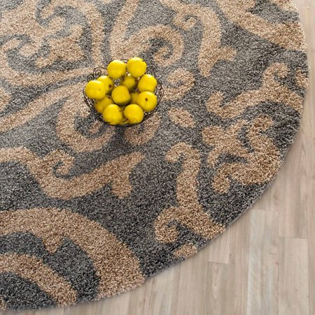 Florida College Rug - Safavieh Florida Deangelo Damask Plush Shag Area Rug