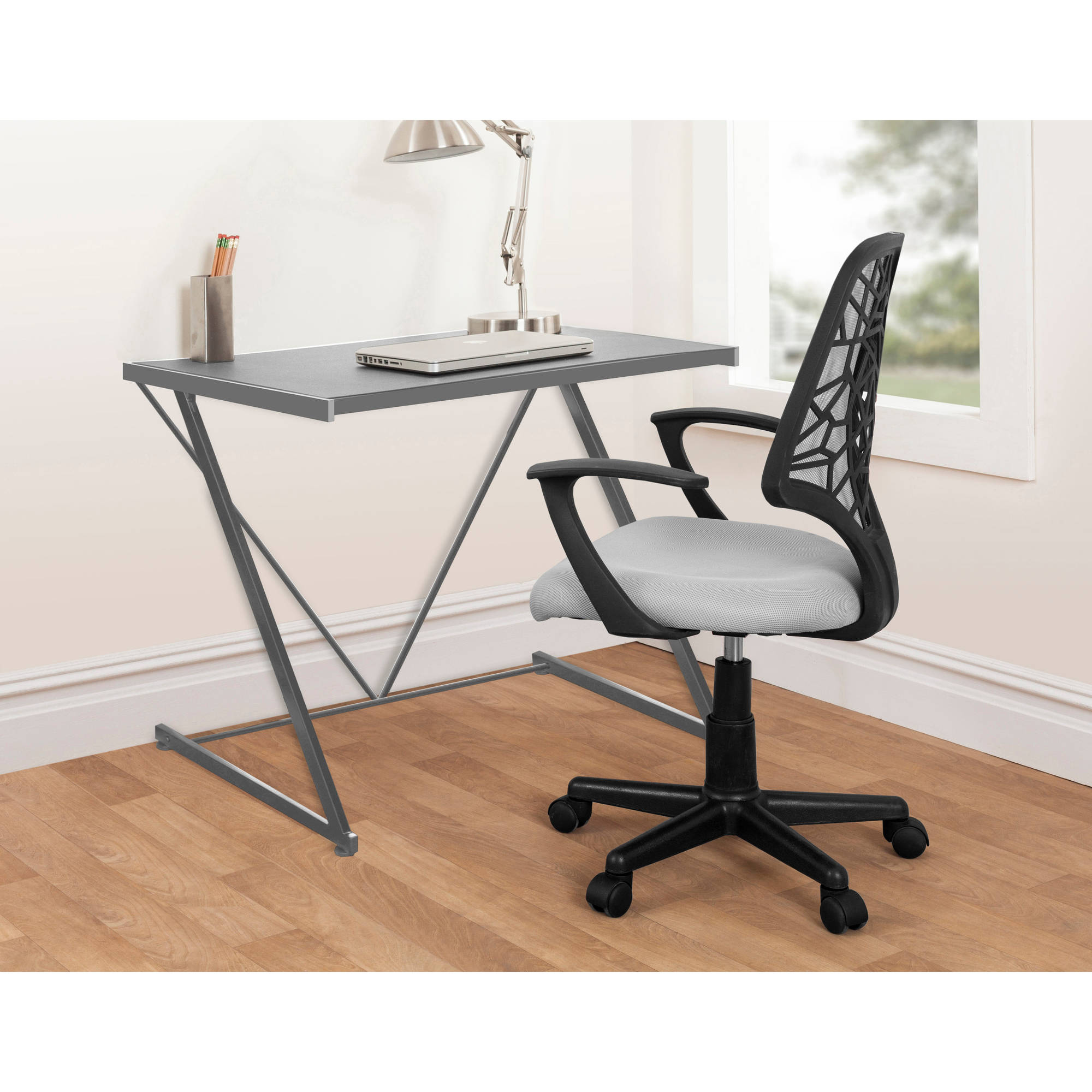 Urban Shop Z-Shaped Student Desk, Multiple Colors