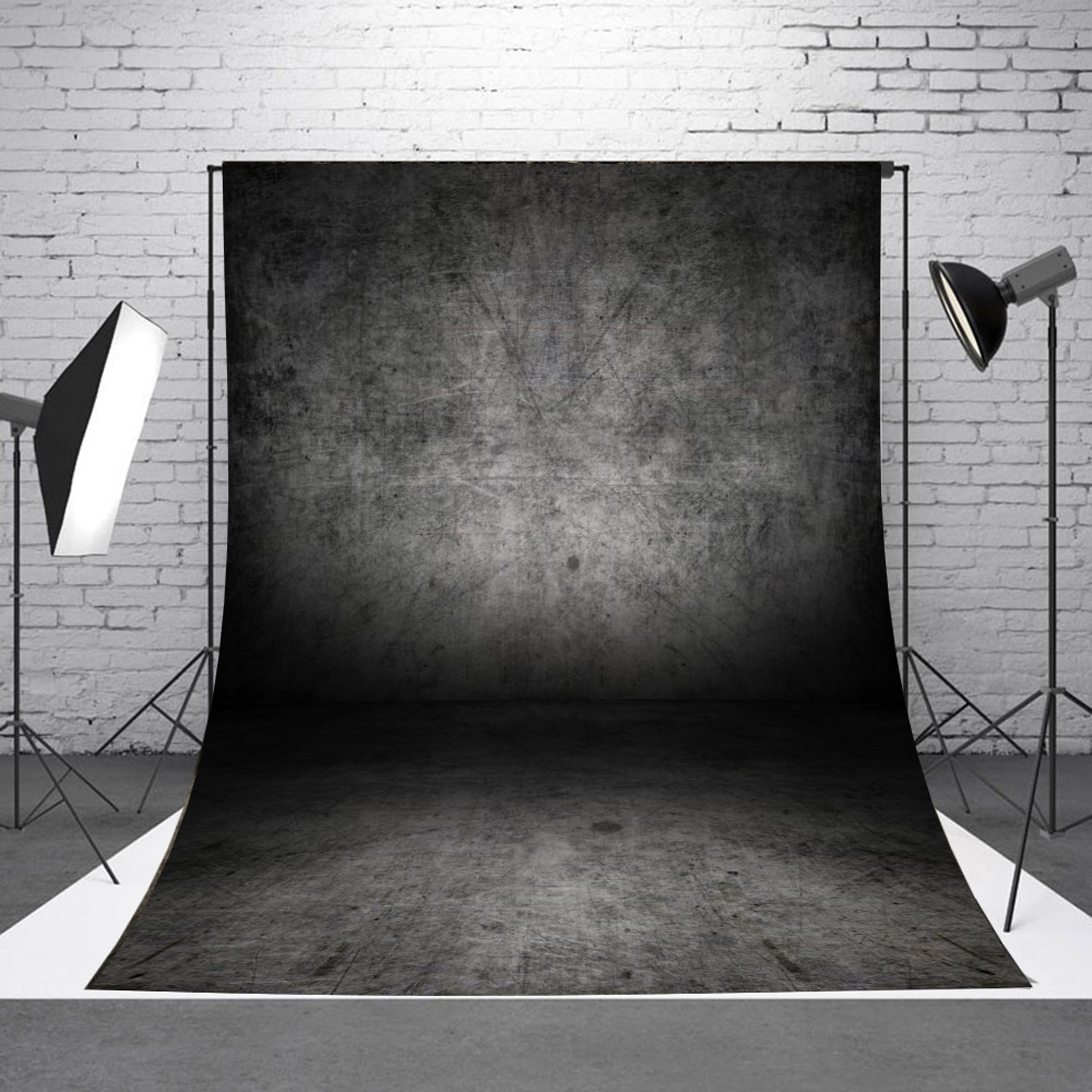 NK HOME Studio Photo Video Photography Backdrops 8x12.5ft Scratching Wall & Floor Printed Vinyl Fabric Background Screen Props