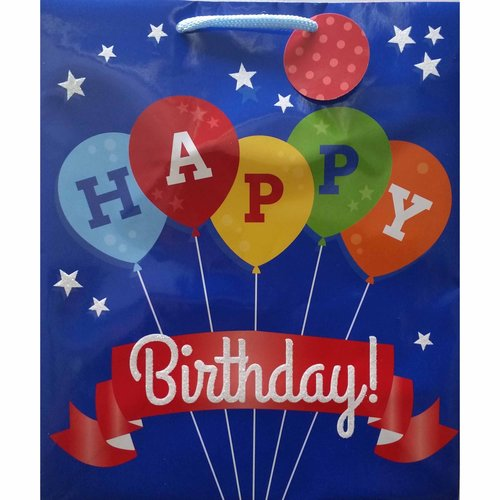 Berwick Offray Large Balloons and Banner Gift Bag
