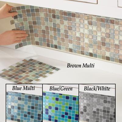 Mosaic Backsplash Tiles - Set of 6-BrownMulti