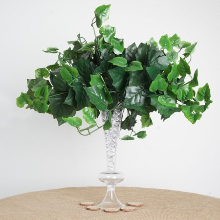 BalsaCircle 4 Green UV Protected Ivy Greenery Bushes Fillers - Wedding Party Home Decorations Centerpieces Arrangements