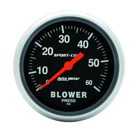 AutoMeter 3402 Sport-Comp Mechanical Blower Pressure Gauge