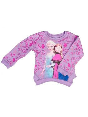 crew neck sweatshirt toddler 2T purple frozen sisters
