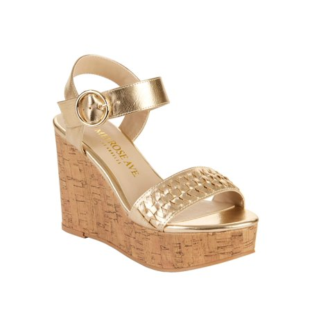 Melrose Ave Women's Without a Doubt Vegan Platform Wedge (shoes for women nine west wedge)