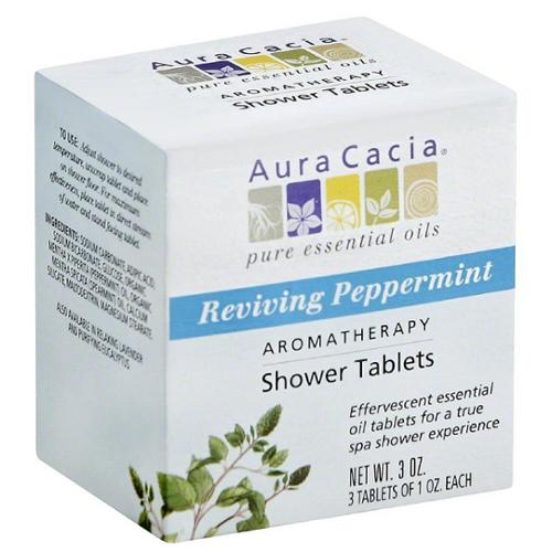 Aura Cacia Aromatherapy Shower Tablets, Reviving Peppermint 3 ea (Pack of 3)