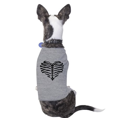 Funny Small Dog Halloween Costumes (Heart Skeleton Funny Halloween Costume Tshirt For Small Dogs)