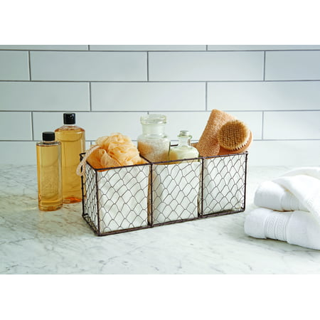Better Homes & Garden Lined Chicken Wire Basket Easy Track Wire Basket