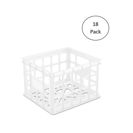 Sterilite Plastic Storage Box Crate Container for Home or Office (18 Pack) ()