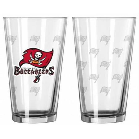 Tampa Bay Buccaneers Satin Etch Pint Glass Set - image 1 de 1