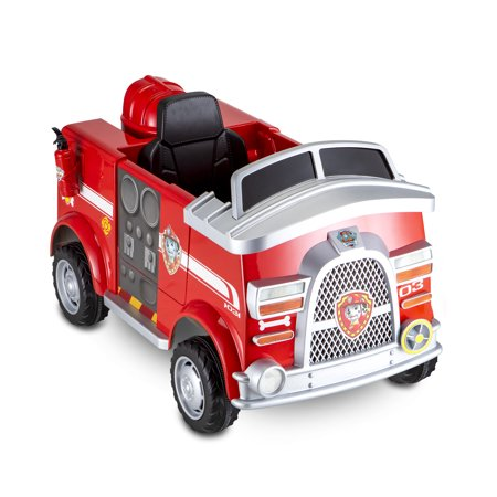 Nickelodeon's PAW Patrol: Marshall Rescue Fire Truck, 6-Volt Ride-On Toy by Kid Trax