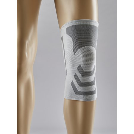 ACE Brand Compression Knee Support, Small/Medium, White/Gray, 1/Pack