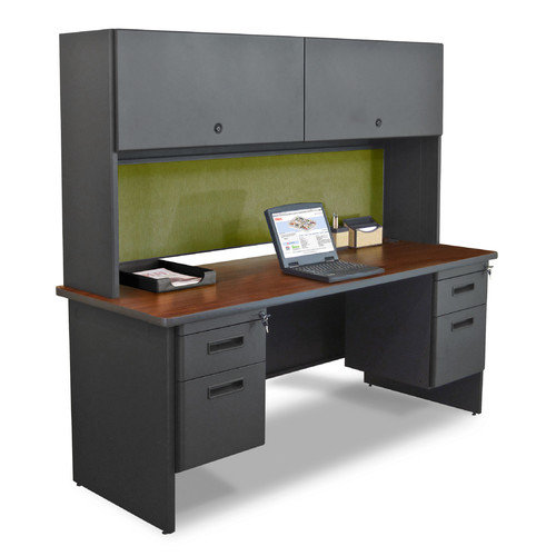 Marvel Office Furniture Pronto Flipper Door Cabinet Executive Desk with Lock by Marvel Office Furniture