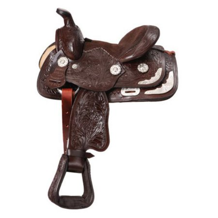 King Series Miniature Western Carved Show Saddle
