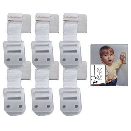 Safety 1st Furniture Wall Straps 6 Pack With Bonus 10 Outlet Plug Covers