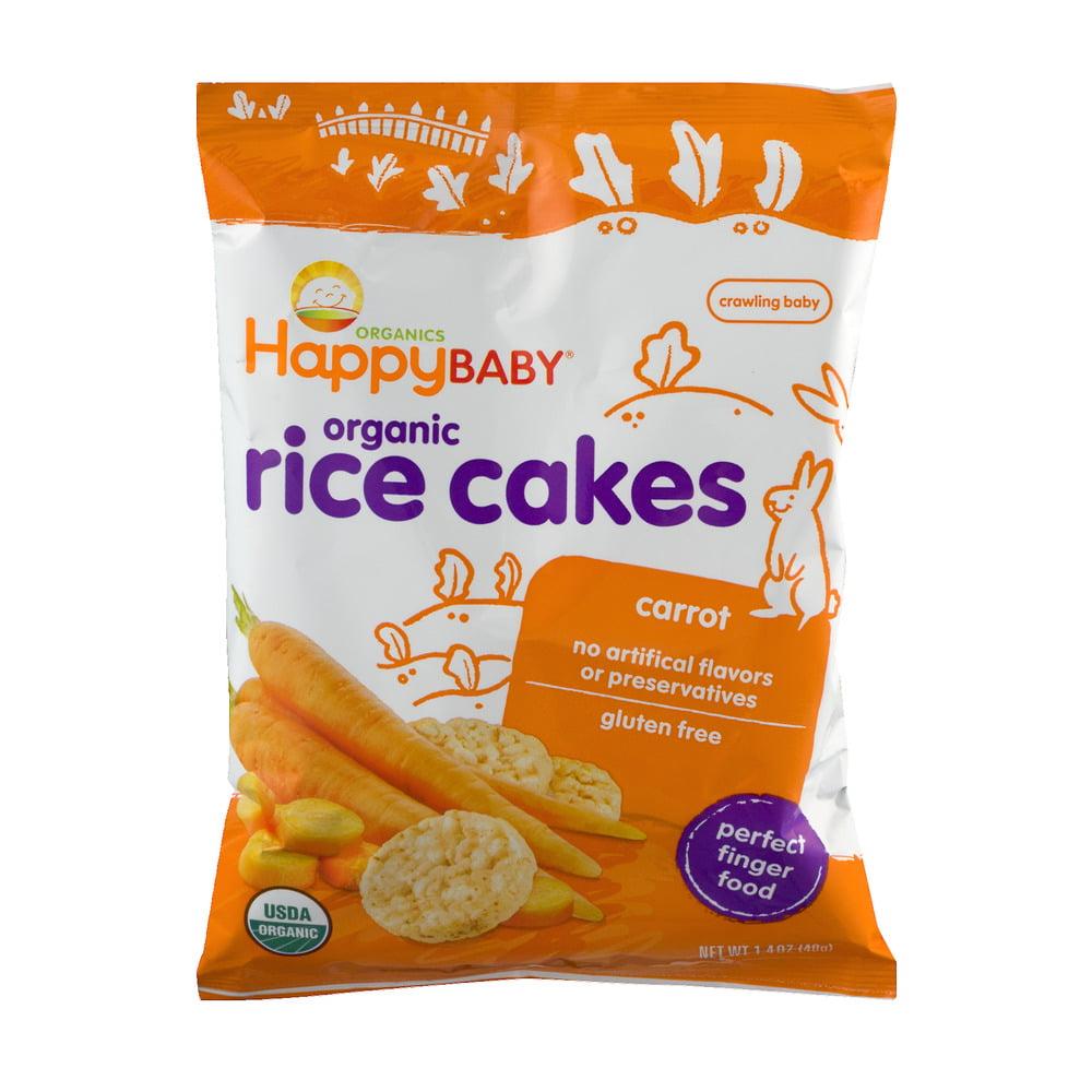 HappyBaby Organics Organic Rice Cakes Carrot, 1.4 OZ