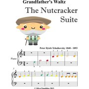 Grandfather's Waltz the Nutcracker Beginner Piano Sheet Music with Colored Notes - eBook