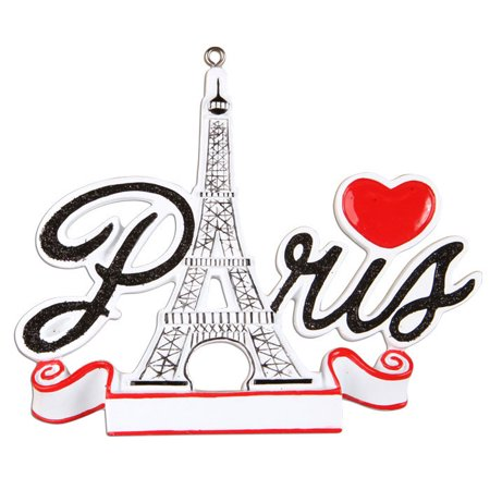 Paris France Personalized Christmas Ornament DO-IT-YOURSELF ()