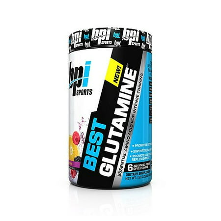 BPI Sports Best Glutamine Powder, Berry Citrus, 50