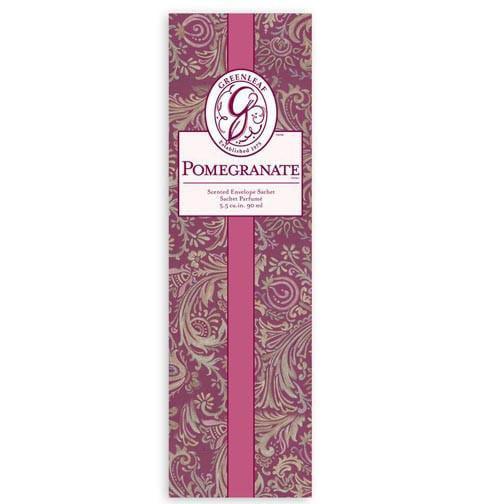 Greenleaf Slim Scented Envelope Sachet Pack of 4 - Pomegranate