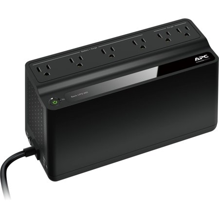 APC UPS Battery Backup & Surge Protector, 450VA, APC Back-UPS