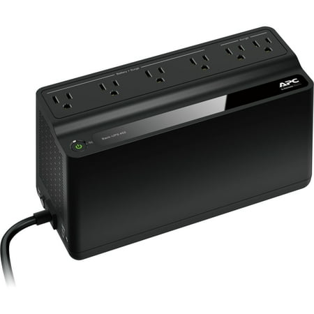 APC UPS Battery Backup & Surge Protector, 450VA, APC Back-UPS - Cache Battery Backup