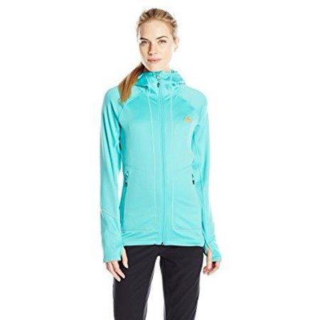 adidas outdoor women's terrex swift pordoi hooded fleece jacket, vivid mint,