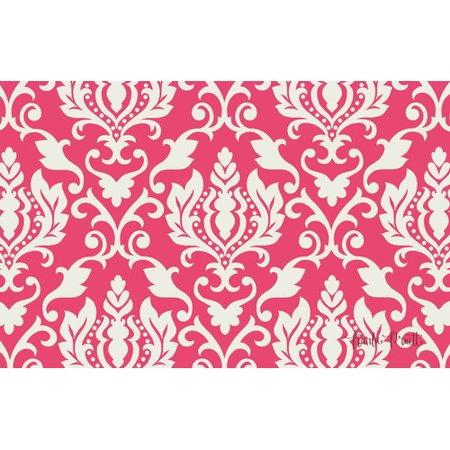 Manual Woodworkers & Weavers Francie Damask Pink Area Rug