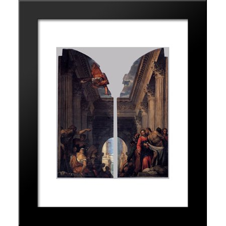 Healing of the Lame Man at the Pool of Bethesda 20x24 Framed Art Print by Paolo (The Man At The Pool Of Bethesda)